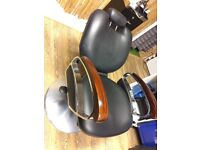 Adjustable back and height salon chair