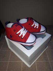 brand new ralph lauren crib shoes size 3.5