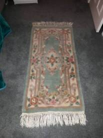 2 x Chinese green rugs