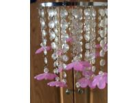 Beautiful pink flower chandelier style pendant