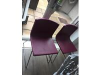 Trendy Dinning room chairs - purple pink faux leather covered