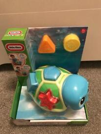 Brand new Boxed little tikes Crawl n pop turtle age 6 Months +