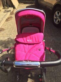 Silver cross wayfarer - carrycot, seat unit, car seat & adapters !!