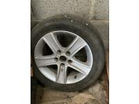 Used alloy wheel and tyre 205/55/R16C