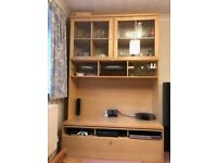 Ikea display unit. Perfect condition. Television shelf and drawer storage for dvds etc.