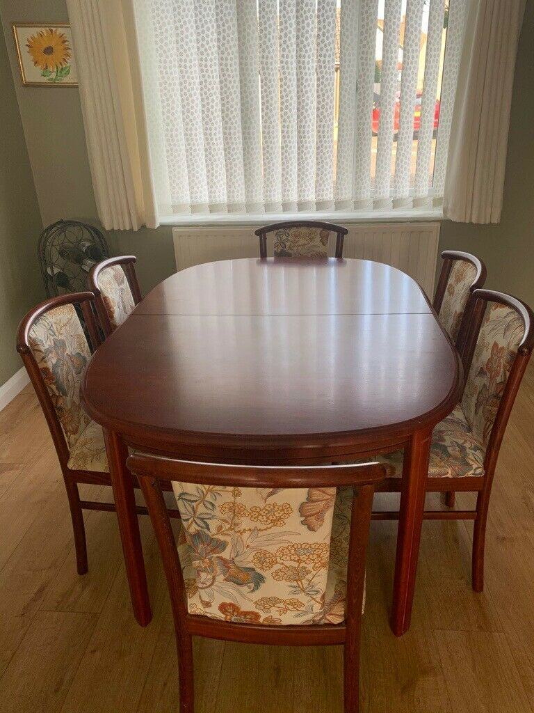 Extendable Ikea Dining Room Table And 6 Chairs For Collection Only In Diss Norfolk Gumtree