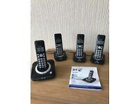 Bt cordless quad telephones
