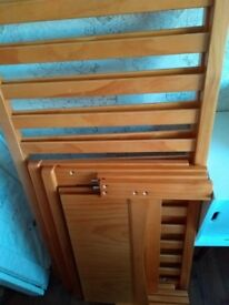 Pine Cot Bed and Mattress from Babies R Us in very good condition