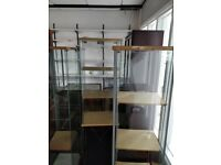 *FURNITURE CLEARANCE* Various glass display cabinets, Wooden display cabinets.