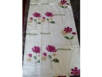 Pair of fully lined curtains approx. 45 width and 53 length.
