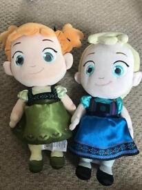 Disney Elsa and Anna dolls