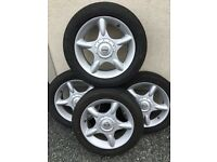 4 Mini Cooper Alloy rims with legal tyres