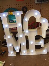 Carnival light up home sign