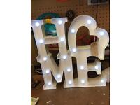 Carnival light up home sign