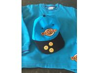Beavers sweater and cap