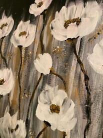 Abstract acrylic art - 'Field of Flowers'