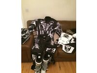 Motorcross suit and boots