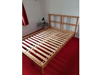 Wooden Double Bed Frame with slatted base