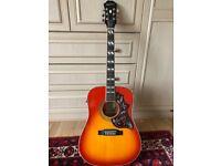 Epiphone Hummingbird Pro - Electro Acoustic Guitar - with hard case