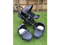 iCandy Peach Blossom Twin Buggy and Carrycots