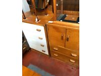 Very early and rare E Gomme G plan 2 piece bedroom suite in Oak Veneer Beautiful Vintage 1950's 60's