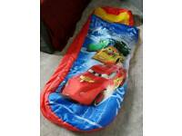 Inflatable child's bed/airbed/sleeping bag
