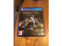 PS4 Middle Earth Shadow Of War in mint condition like new
