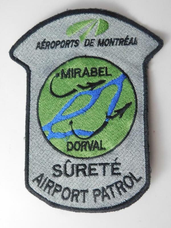 MIRABEL AIRPORT DORVAL SECURITY PATROL VINTAGE PATCH BADGE QUEBEC CANADA POLICE
