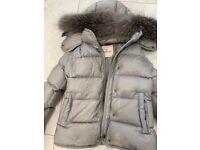 Girls moncler grey jacket