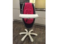 Girls pink Mamas & Papas highchair. Excellent condition.