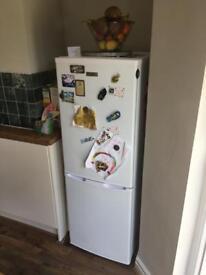 Fridge master, Fridge Freezer in Excellent Condition, White, 50cm wide, 145cm tall