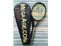 Mega age Tennis Racket/Racquet, with Cover. * RRP £59.99 (Brand New)