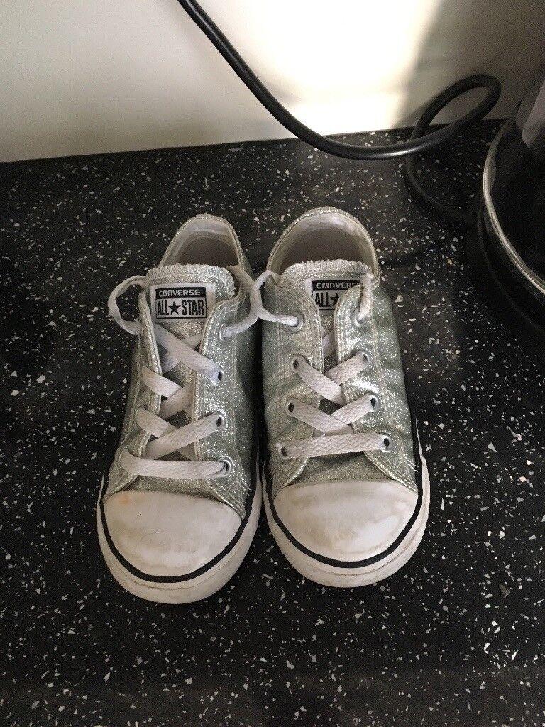 164f0454798501 Silver sparkle converse size 9