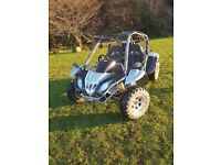 Quadzilla 500cc twin seater buggy on & off road with MOT 650 hours