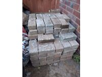 Approx 220 paving bricks for a building project