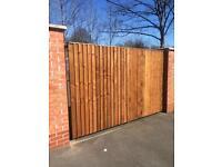 Double gates driveway gates timber gates