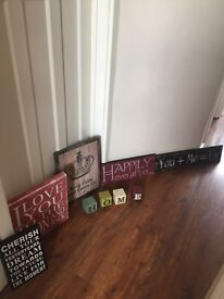 Wall signs/canvas quote bundle