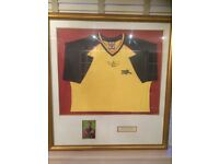 Arsenal Tony Adams championship signed shirt framed