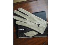 Gloves, Escada Designer Kid Leather, Size 7 (Gorgeous Leather)