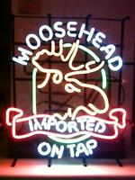 Rare and Authentic:  MOOSEHEAD IMPORTED ON TAP Neon Bar Sign