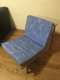 Wooden frame padded cushions chair