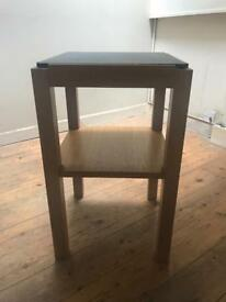 Pair of Oak & Slate Side Tables