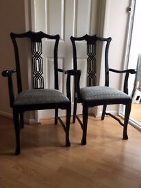 Beautiful Pair of 2 Dining Carvers Chairs