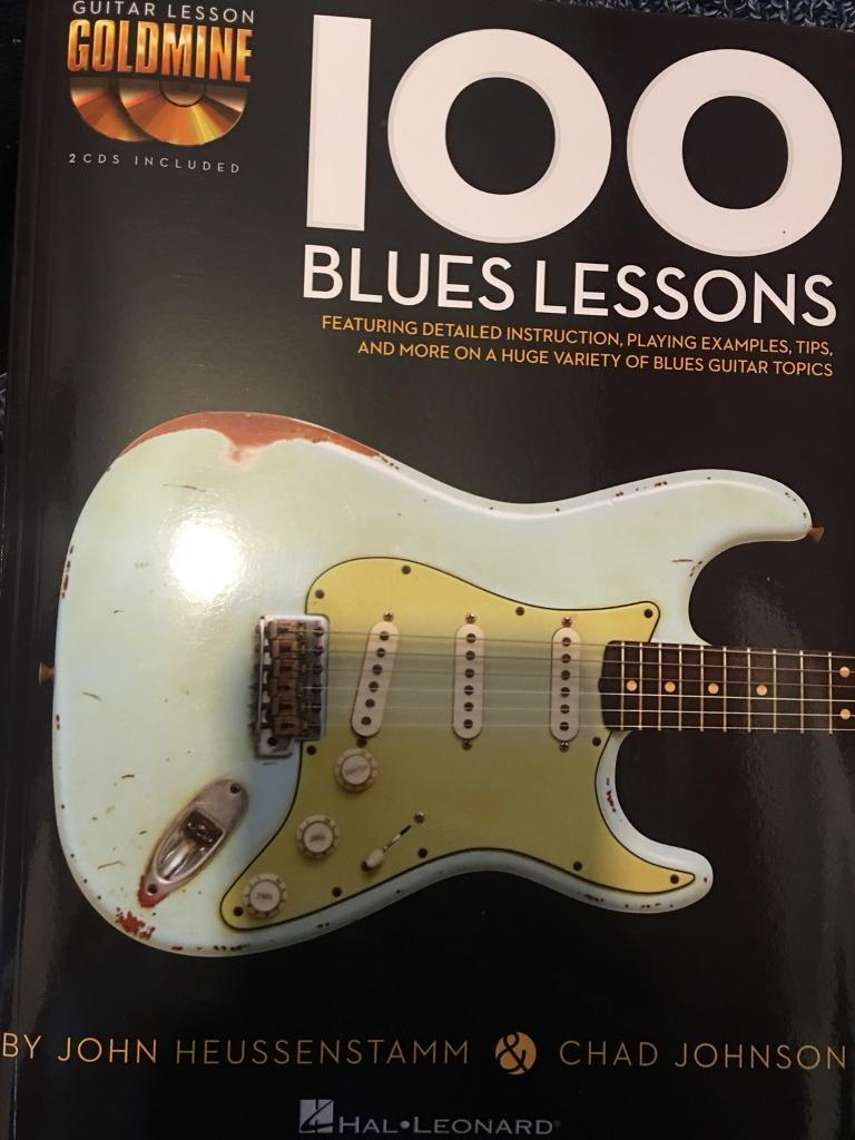 100 blues lessons for guitar