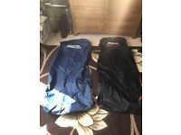 Snap on car seat covers