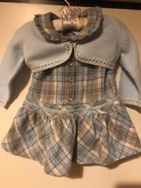 Dress and jacket baby. 6 months.