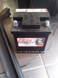 Lion battery 45ah used 6 months with over 2 year warranty