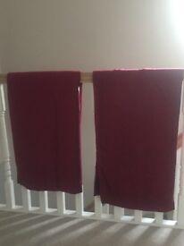 Dunelm Cranberry Curtains