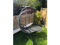 Garden Helicopter Swing Home Hanging Lounger Hammock Dream Chair Canopy Used