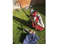 Golf bag clubs trolley golf balls etc. All for £40